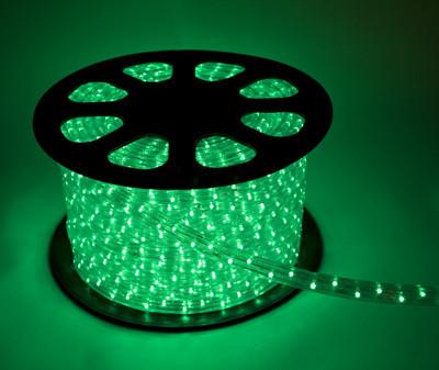 Дюралайт LED Зелёный 50 метров\уличный.Дюралайт светодиодный LED-2WRL-13 mm