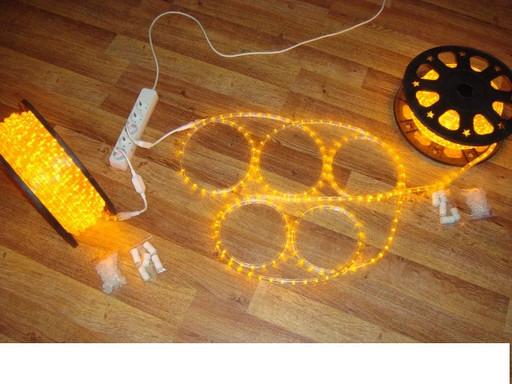 Дюралайт LED Жёлтый 50 метров\уличный.Дюралайт светодиодный LED-2WRL-13 mm