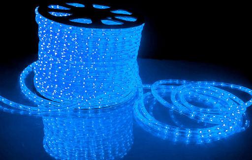Дюралайт LED Синий 100 метров\уличный.Дюралайт светодиодный LED-2WRL-13 mm