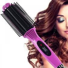 Утюжок для волос щетка выпрямитель расческа Nova 8810