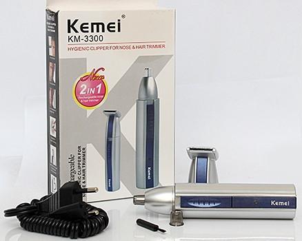 Триммер для, носа и для ушей 2в1 KEMEI KM-3300