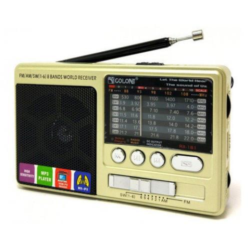 Портативный радио приемник GOLON RX-181 USB FM