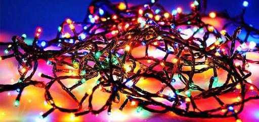 Новогодняя разноцветная гирлянда LED 200 M-3 (200 светодиодов)