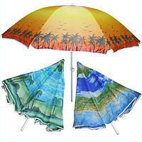 Зонт пляжный 180 см + БУР ДЛЯ ПЕСКА +ЧЕХОЛ С РУЧКОЙ ДЛЯ УДОБНОЙ ПЕРЕНОСКИ.