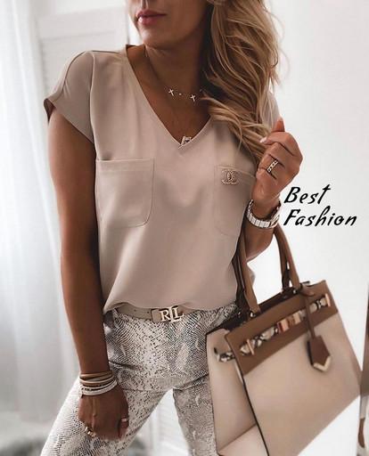Блузка стильная , 4 цвета , Мод. 401