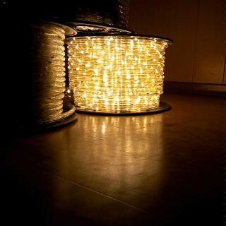 Дюралайт LED (тепло белый) 100 метров\уличный .Дюралайт светодиодный LED-2WRL-13 mm