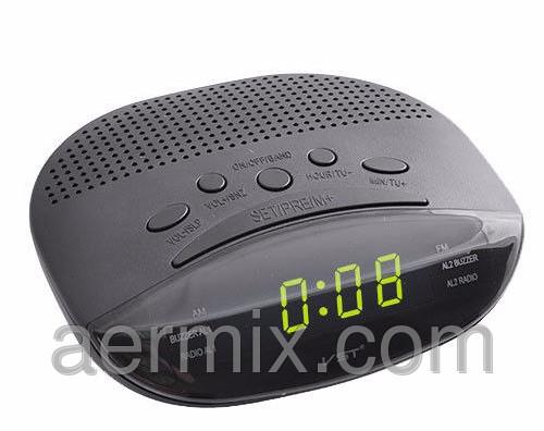 Настольные часы 908-4 салатовые, электронные радиочасы, часы fm радио, электронные часы с радиоприемником