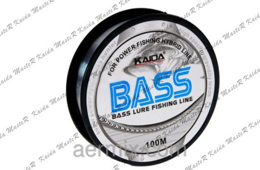 Леска BASS KAIDA YX-210-40, леска для ловли на спиннинг удочку, леска для рыбалки 100 метров