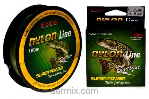 Леска NYLON LINE KAIDA YX-311-18, леска для ловли щуки на спиннинг, леска для рыбалки 100 метров