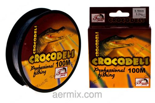 Леска рыболовная CROCODELI YX-306-50, леска для спиннинга 100 метров, нить леска крокодил