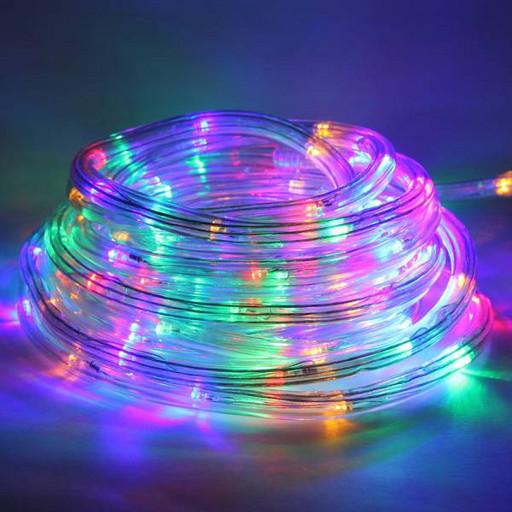 Светодиодный шланг дюралайт 10 метров FLAT (плоский) разноцветный