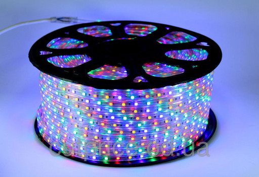 Разноцветная  SMD LED 5050 MULTY 100 метров (силиконовое покрытие)