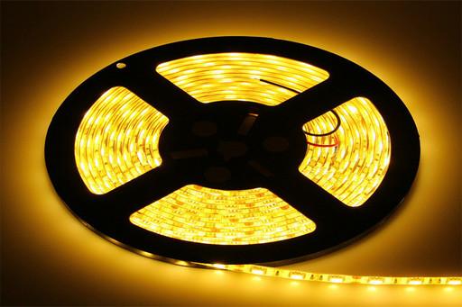 Лента светодиодная LED 5050 Yelow, лента дионая желтого цвета