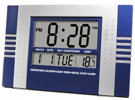 Оригинальные настенно-настольные электронные часы KK 5850, часы светодиодные многофункциональные