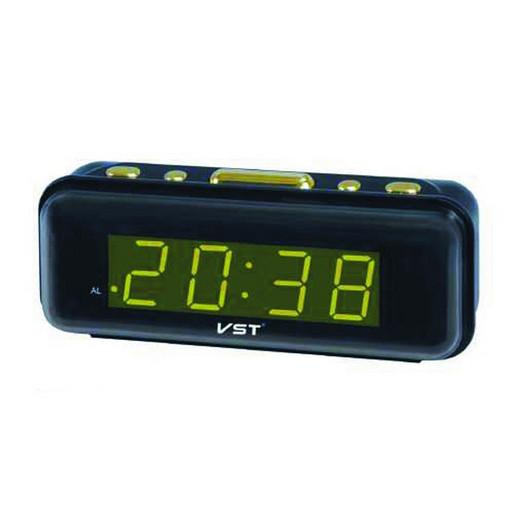 Электронные часы с подсветкой настольные VST 738-4 салатовые, настольные часы от сети, часы будильник для дома