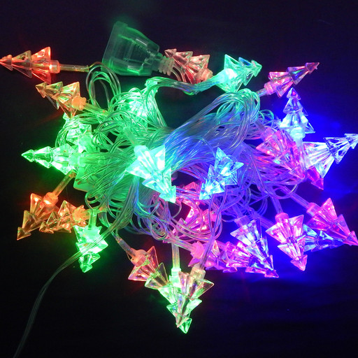 Гирлянда Ёлочки 3D LED 28 мульти