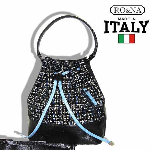 Женская кожаная сумка - Итальянский кисет на кулиске