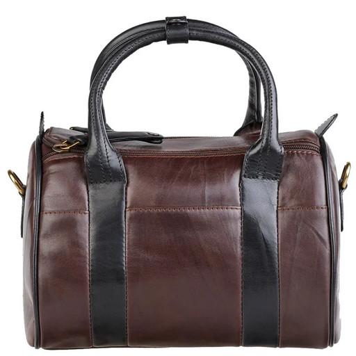 Кожаная сумка бочонок - женская