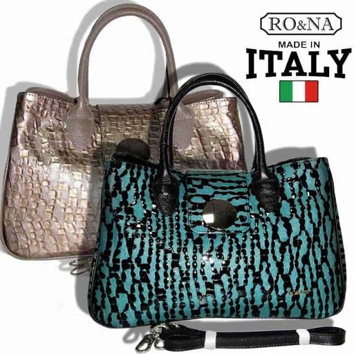 Итальянская кожаная женская сумка - необычная перфорация