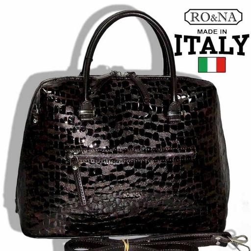Лакированная сумка из натуральной кожи - RO&NA