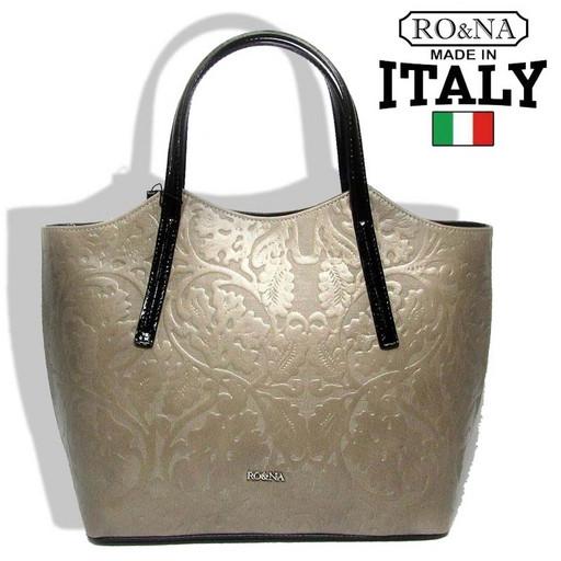 Итальянская сумка с выделкой-рисунком на натуральной коже