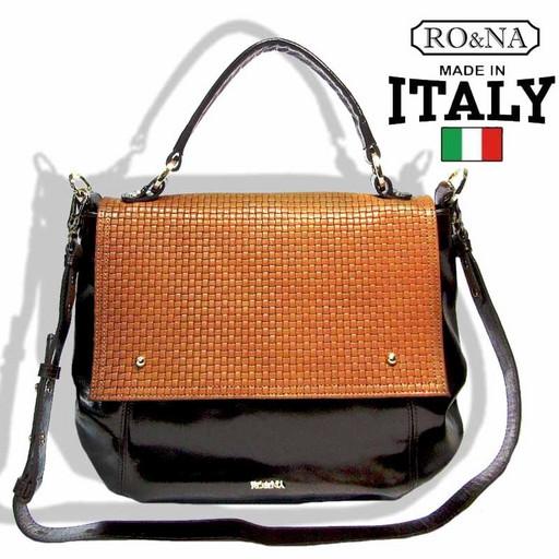 Итальянская лакированная сумка из натуральной кожи - RO&NA