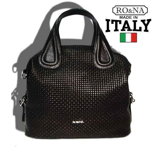 Женская кожаная сумка 30 см. - Итальянская плетенка