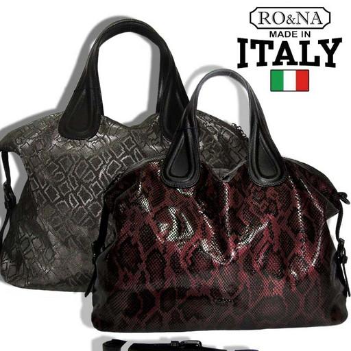 Итальянская кожаная сумка с лазерной обработкой