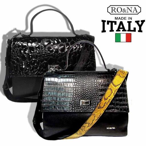Итальянская женская сумка из натуральной кожи с клапаном - RO&NA