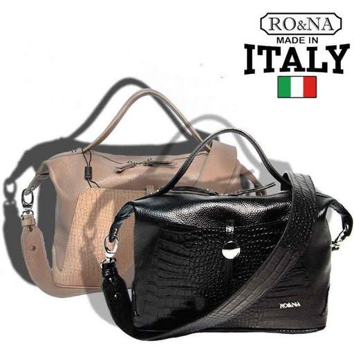 Итальянская кожаная сумка с карманами - RO&NA