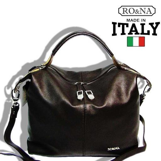 Женская мягкая сумка с короткими ручками и ремнем через плечо