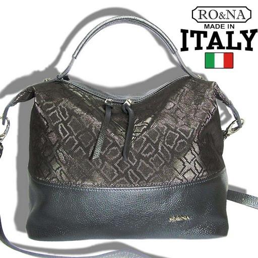 Женская мягкая сумка из натуральной кожи через плечо - Итальянская