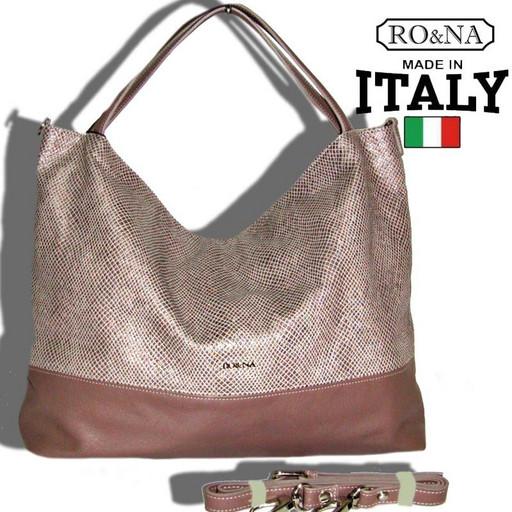 Большая Итальянская сумка из натуральной кожи - RONA