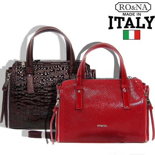 Итальянская женская сумка из натуральной кожи - бочонок через плечо