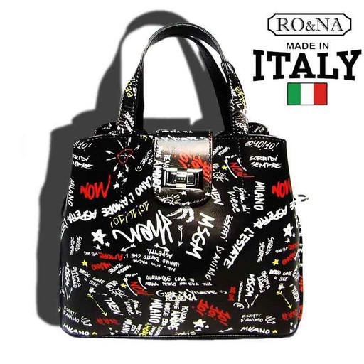 Итальянская кожаная сумка на поворотном замке