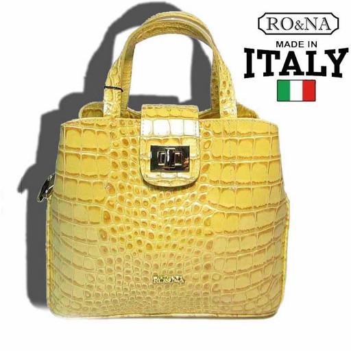 Итальянская кожаная сумка на поворотном замке Келли