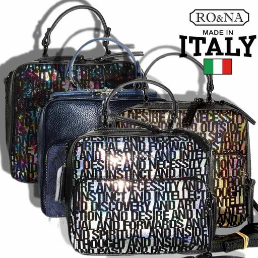 Женская кожаная сумка через плечо - Итальянская яркая