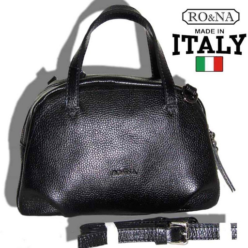 Итальянская сумка из натуральной кожи - много отделений