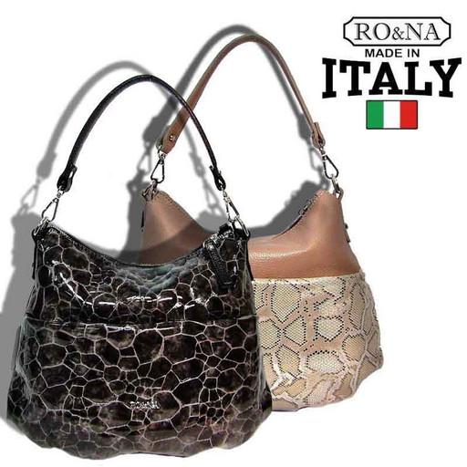 Итальянская женская сумка из натуральной кожи - через плечо