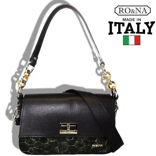 Женская маленькая кожаная сумка - Итальянская на вечер
