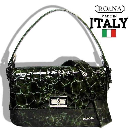 Лакированная сумка из натуральной кожи - Итальянская