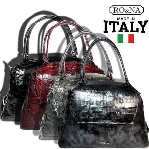 Кожаная Итальянская сумка купол - RO&NA