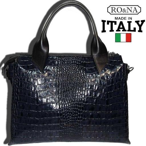 Итальянская сумка с имитацией - много отделений
