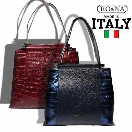 Деловая кожаная Итальянская сумка-RO&NA