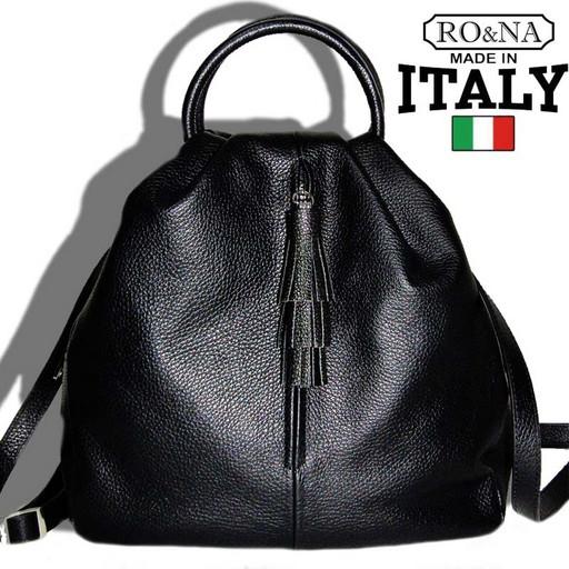 Женская кожаная сумка рюкзак-трансформер из Италии