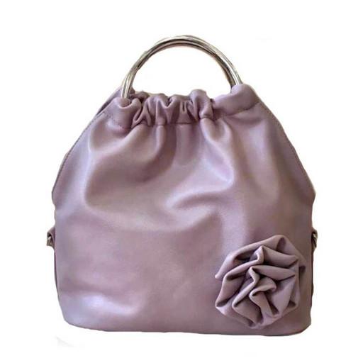 Маленькая женская сумка с объемным цветком