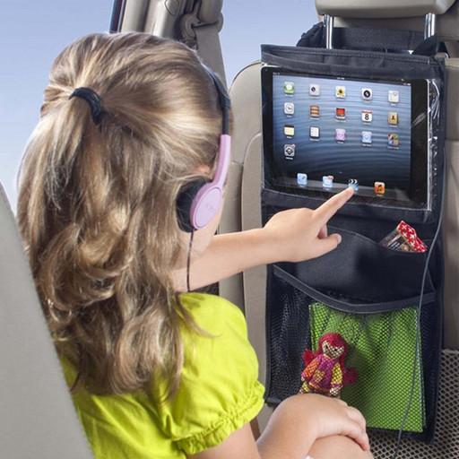 Органайзер на спинку сиденья автомобиля - защита планшета