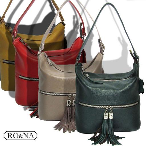 Женская сумка из натуральной кожи - Хобо с ремнем через плечо