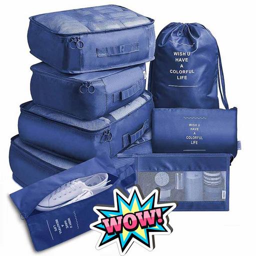 Набор органайзеров из 8 предметов в чемодан для путешествия Premium