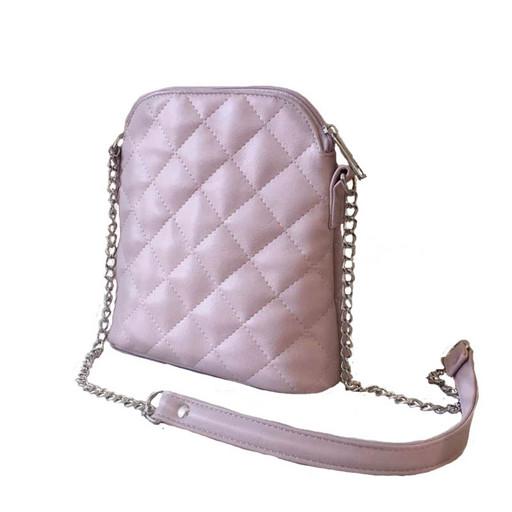 Маленькая женская сумка на лето - пудровая
